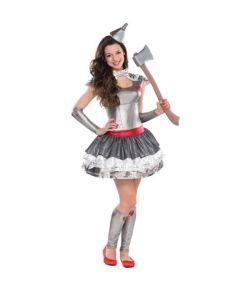 Tinmand kostume kjole, hårklips, armvarmere og benvarmere.