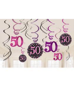 Flotte loftspiraler til 50 års fødselsdag.