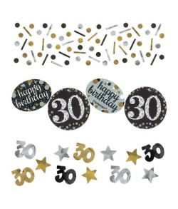 Sparkling konfetti til 30 års fødselsdag.r