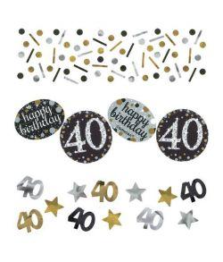 Sparkling konfetti til 40 års fødselsdag.