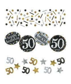 Sparkling konfetti til 50 års fødselsdag.