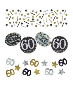 Sparkling konfetti 60 års fødselsdag.