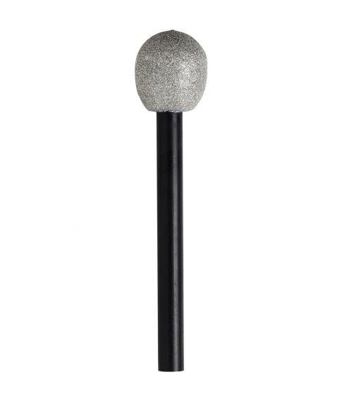 Mikrofon i plastik til 80er udklædningen.