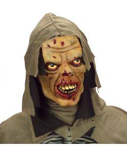 Uhyggelig zombie maske i gummi til børn.