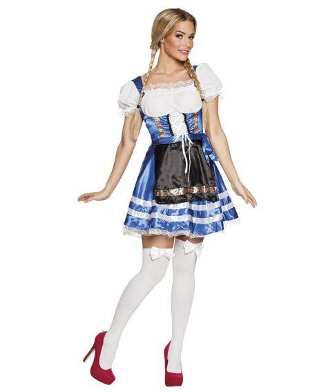 a36733864006 Oktoberfest kjole med forklæde og fastsiddende bluse.