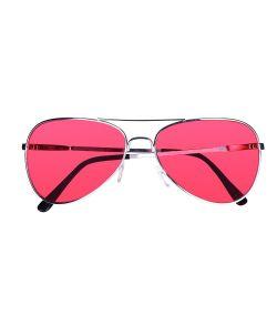 Briller med røde glas til 70er - 80er udklædningen.