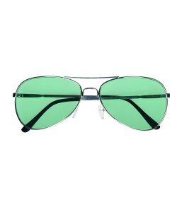 Briller med grønne glas til 70er - 80er udklædningen.