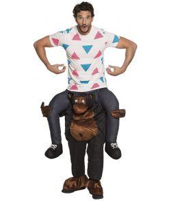 Sjov bukser hvor du ridder på ryggen af en gorilla.