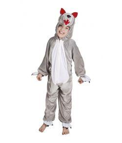 Blødt ulve kostume til børn.