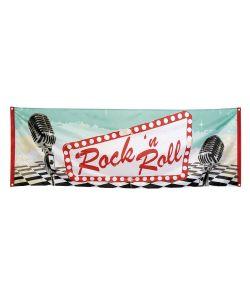Rockn Roll banner 220x74 cm