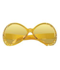 Gule briller til 80er udklædningen.