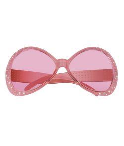 Smart pink brille med sten til 80er udklædningen.