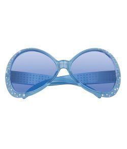 Stor brille med sten til 70er - 80er kostumet.