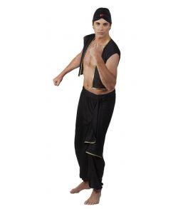 Araber kostume med vest, bukser og turban.