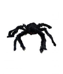 Edderkop med pels til halloween.