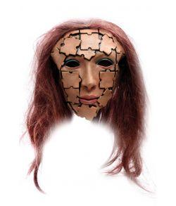 Puslespil maske med hår.
