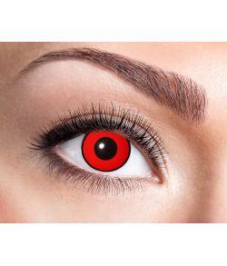 Røde linser med sort kant.