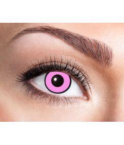 Pink linser med sort kant.