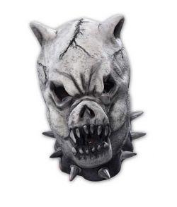 Uhyggelig dæmon hundemaske i gummi.