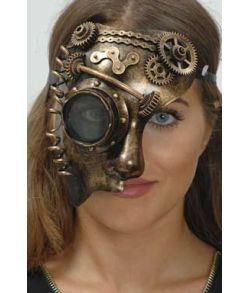 Guld Steampunk halvmaske.