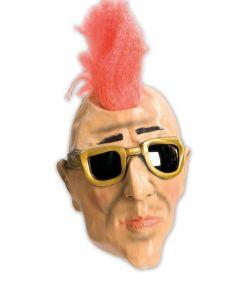 Punker maske med rød hanekam.