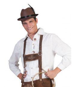 Hvid Tyrolerskjorte