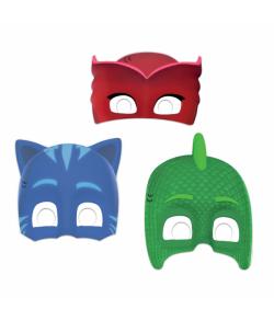 6 stk. Pyjamasheltene masker i pap med elastik