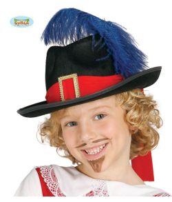 Musketer hat til børn.
