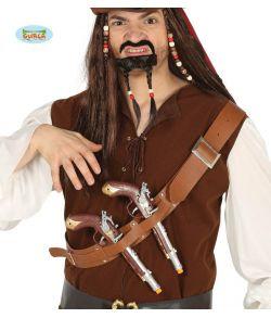 Bælte med 2 pirat pistoler
