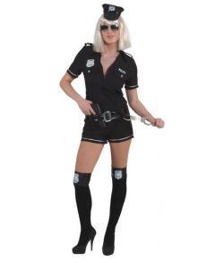 Sort Politi kostume til damer.