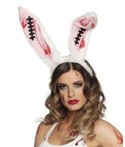 Blodige kaninører til halloween udklædning.