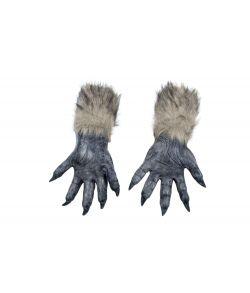 Varulve hænder med pels til halloween udklædningen.