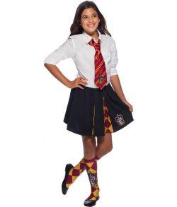 Gryffindor slips med emblem til børn og voksne til Harry Potter kostumet.