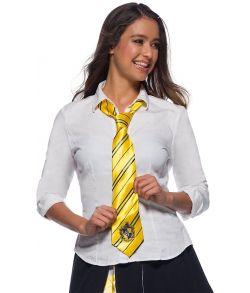 Hufflepuff slips med emblem til børn og voksne.