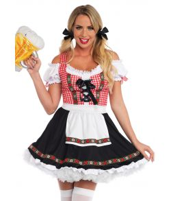 Flot Oktoberfest kjole fra Leg Avenue med forklæde.