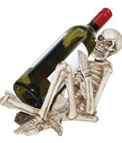 Flot skelet vinflaske holder i hårdt massivt plastik.