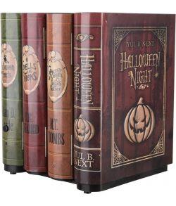 Hjemsøgte bøger som bevæger sig ud og laver uhyggelige lyde.