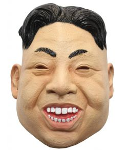 Kim Jong-Un maske helmaske i gummi med håndmalet detaljer.