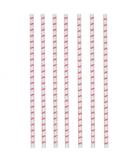 Flamingo sugerør i papir.