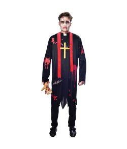 Zombie præst kostume til voksne.