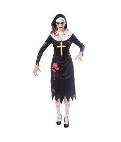 Zombie nonne kostume til halloween.