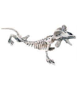 Flot øgle skelet i plastik til halloween dekorationen.