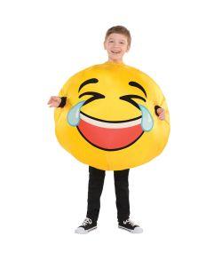 Oppustelig Emoji kostume til børn.