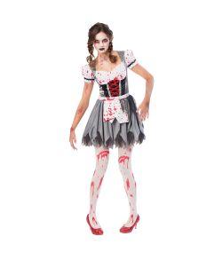 Miss oktoberfest Zombie kostume.
