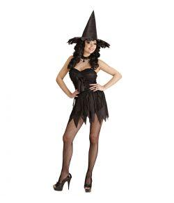Hekse kostume til halloween.