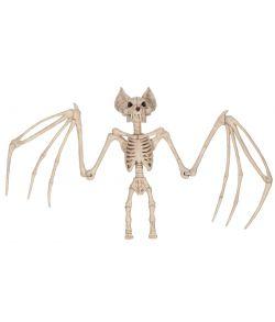 Stort flagermus skelet til halloween.