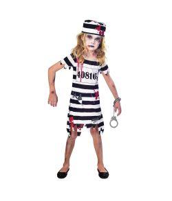 Billigt Zombie fange kostume med kjole og hat til piger.