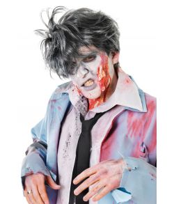 Zombie paryk Spikey grå