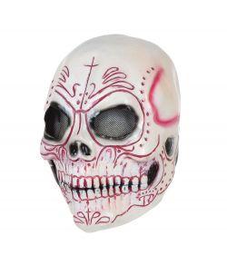 Kranie maske i latex til voksne.