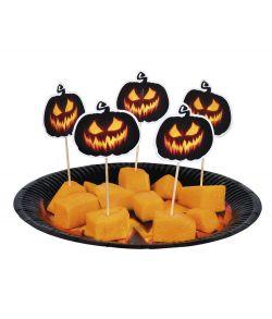 Creepy Pumpkin cocktail sticks.